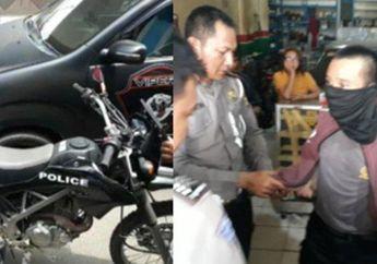 Jeruk Makan Jeruk, Polisi Naik Motor Trail Hadang Pemotor Lawah Arah, Eh Diciduk Polisi Juga