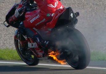 Ngeri, Video Motor Ducati Terbakar Parah di FP1 MotoGP Valencia 2019