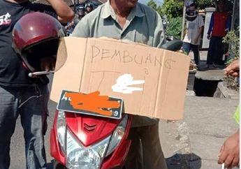 Buang Tinja di Halaman Tetangga Pakai Motor, Pelakunya Disergap Polisi