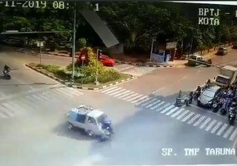 Tangerang Berdarah, Video Tabrakan Mobil Pick Up Vs Motor Sampai Mental, Sopir Diringkus Polisi