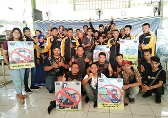Mantap, Komunitas Motor Skills Jakarta Ajak Pemotor Untuk Fokus Berkendara Tanpa HP
