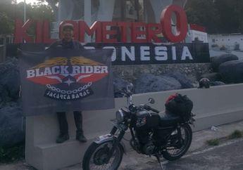 Bukan Bikers Receh, Start dari Jakarta Barat, Bro Donal Sambangi Titik 0 KM Naik Motor Lawas