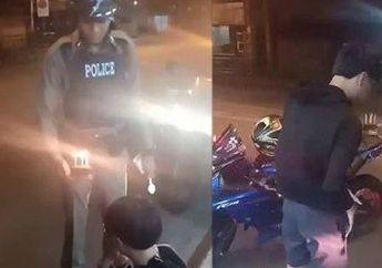 Ditilang Karena Gak Pakai Helm Remaja Curhat Sambil Menangis, Lihat Perlakuan Polisi yang Bikin Haru