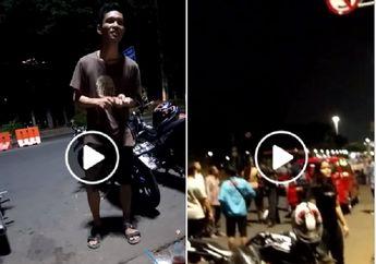 Kawasan Monas Mulai Gak Aman, Video Preman Bergentayangan Bergaya Tukang Parkir, Palak Pemotor Pakai Pisau Cutter