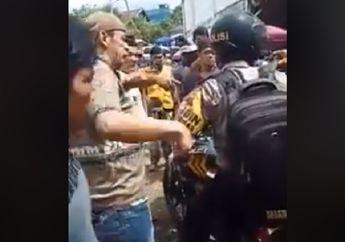Parkiran Pasar di Jambi Mencekam, Anggota Babinkamtibmas Gak Berkutik dan Nyaris Dikeroyok Warga, Rompi Warna Oranye Jadi Penyebab