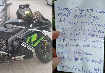 Kocak Banget, Pemilik Yamaha R6 Kehilangan Motor dan Temukan Secarik Kertas dari Pelaku, Isinya Gak Nyangka Banget