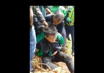 Wajah dan Badan Oknum Driver Ojol Langsung Ringsek Digebukin Warga Sekampung, Netizen: Puter Terus Videonya Sampe Palanya Bocor