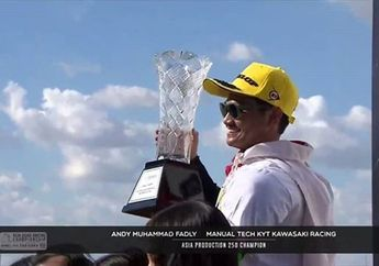Bikin Bangga Indonesia, Video Selebrasi Kemenangan AM Fadly Raih Juara Asia ARRC AP250 2019