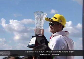 Bikin Bangga Indonesia, Video Selebrasi Kemenangan AM Fadly Raih Juara Asia ARRC AP250 2019
