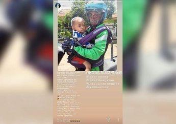 Sedih Lihatnya, Perjuangan Driver Ojol Narik Ajak Anaknya yang Masih Bayi, Penumpangnya Sampai Berurai Air Mata