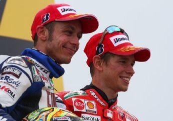 Mendadak Panas, Casey Stoner Sindir Kehebatan Valentino Rossi dan Bilang Bukan Pembalap Kompetitif