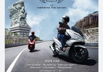 Tempuh Jarak Hampir 200 Km, Begini Tantangan Etape 1 Turing Honda PCX Keliling Bali yang Diikuti Puluhan Bikers