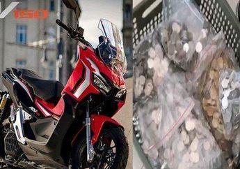 Gokil, Nabung Selama 4 Tahun Seorang Pria Beli Motor Honda ADV150 Pakai Koin Sebanyak Rp 14,3 Juta, Ngitung Duitnya Sampai 6 Jam Bro