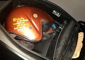 Kreatif dan Rapi, Bagasi Yamaha NMAX Dipasang Sekat Knock Down, Tetap Muat Helm dan Jas Hujan
