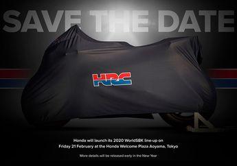 Catat Tanggalnya, Kirain Motor Marc Marquez Buat MotoGP 2020, Ternyata Honda Bakal Launching Superbike Ini