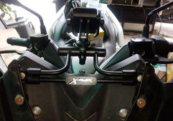 Terbuat dari Pipa Besi, Bracket dan Holder Smartphone Buat Yamaha XMAX Ini Dijamin Aman dan Kuat Buat Turing