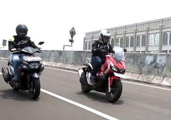 Adu Kencang Honda ADV 150 Vs Yamaha Aerox 155, Siapa Yang ditinggal Sekebon?