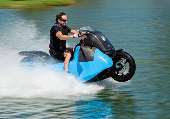 Punya Bodi Bongsor Seperti Yamaha NMAX, Motor Amfibi Gibbs Siap Libas Banjir, Ini Dia Spek dan Video Masuk Danau