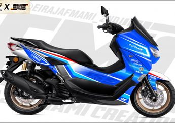 Inspirasi Modifikasi Digital Custom Competition All New Yamaha NMAX 155, Ada Livery Legenda!