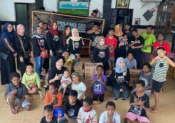 Keren Nih, Para Istri Bikers Komunitas Harley Owners Group Anak Elang Jakarta Club Lakukan Bakti Sosial