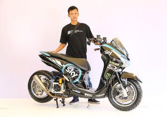 Kaki-kaki Gambot dengan Livery Motor Balap Bikin Yamaha Lexi Ini Raih Gelar Master di Customaxi Bekasi 2020