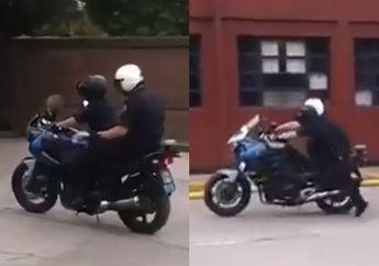 Tragis, Video Dua Anggota Polisi Militer Latihan Kendalikan Moge, Malah Fatal Sampai Tabrak Orang