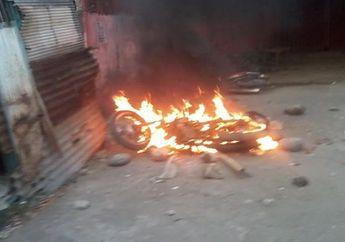 Hati Pecinta Motor 2-tak Ambyar, Seorang Anak Tega Membakar Motor Yamaha F1Z-R Milik Ayahnya Lalu Digantung ke Tiang Listrik