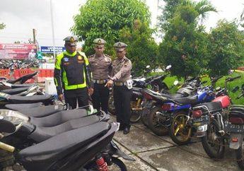 Masyarakat Yang Gerah dan Pengang Knalpot Racing Lapor Polisi, Polres Lakukan Razia dan Kandangi Puluhan Motor Berisik