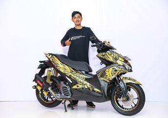 Yamaha Aerox Ini Sabet Juara Kelas Daily di Customaxi Bali, Pakai Decal Garuda Wisnu Kencana