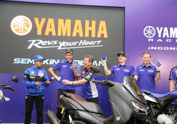 Harga Yamaha All New Nmax 155 Connected/ABS Diumumkan di Depan Valentino Rossi