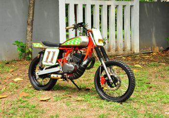 Motor Tukang Jambret Tobat, Yamaha RX-King Berubah Aliran Jadi Flat Tracker