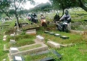 Kronologis Gerombolan Pemotor Nekat Terobos dan Lindas Kuburan, Teriakan Penjaga Makam Gak Digubris