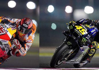 Waduh! Valentino Rossi dan Marc Marquez Lesu Nih di Tes Pramusim MotoGP 2020 Qatar