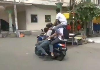 Mungkin Punya Ilmu Kebal, 5 Pelajar Nekat Naik Yamaha NMAX Mirip Sirkus Ternyata di Medan, Dicari Polisi