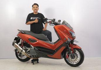Ganti Konsep Mendadak, Yamaha NMAX Ini Malah Jadi yang Paling Elegan di Customaxi Makassar