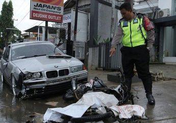 Motor Terbelah Dua Dihajar BMW Saat Putar Balik, Pemotor Tewas Mengenaskan