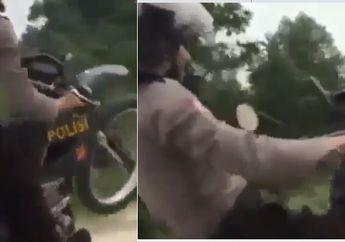 Antimainstream! Pak Polisi  Angkat Kawasaki KLX Sambil Patroli, Netizen: Besok Langsung Suruh Menghadap Tuh