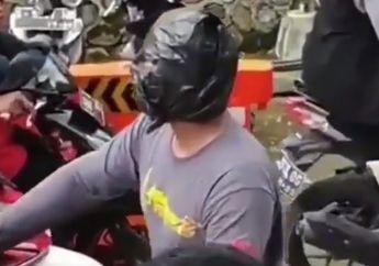 Antisipasi Virus Corona, Pemotor Kreatif Bikin Masker Sendiri yang Menutupi Wajahnya, Netizen: Kirain Black Phanter