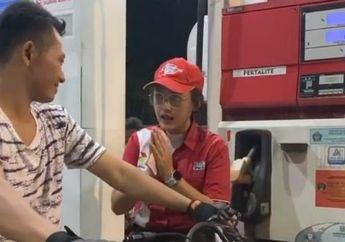 Pom Bensin Mendadak Heboh, Biduan Dangdut Happy Asmara Jadi Petugas, Netizen: Auto Bolak-Balik SPBU