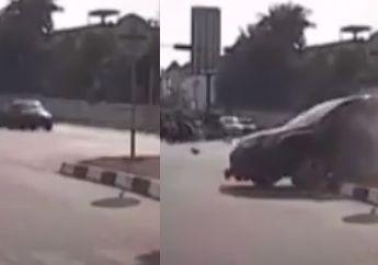 Batam Berdarah! 2 Pemotor Terkapar Tak Berdaya Ditengah Jalan Setelah  Ditabrak Honda CR-V Di Lampu Merah