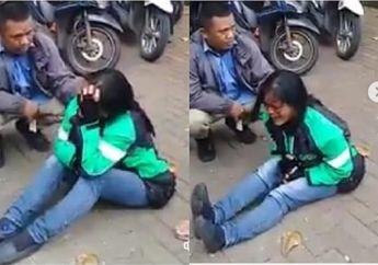 Tega Banget! Driver Ojol Perempuan Nangis Dipinggir Jalan, Motor Raib Digondol Maling Saat Ambil Order Makanan