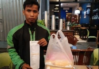 Wajah Pucat Menahan Tangis, Driver Ojol Tertunduk Lesu Digocek Order Fiktif, Martabak Pizza Seharga Rp 650 Ribu Terancam Basi