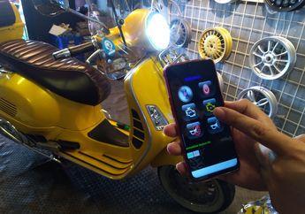 Aman dan Canggih, Pasang Alarm Ini di Vespa GTS, Bisa Menghidupkan Mesin Lewat Smartphone