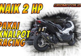Gokil, Video Honda ADV150 Uji Dynotest Ganti Knalpot Racing ROB1, Hasilnya Bikin Melongo