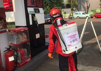 Basmi Virus Corona, Pertamina Semprot Lebih Dari 100 SPBU di Jakarta