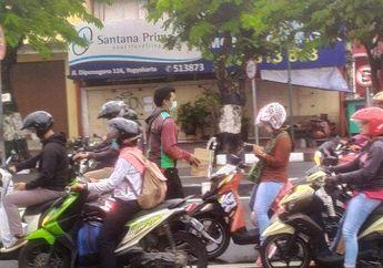 Patut Dicontoh, Banyak Dibantu Saat Orderan Sepi di Tengah Wabah Virus Corona, Driver Ojol Galang Dana Untuk Bantu Tenaga Medis