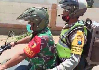 Pahlawan Covid-19 Tumbang, Polisi Yang Viral Keliling Sosialisasi Pencegahan Covid-19  Terlibat Kecelakaan