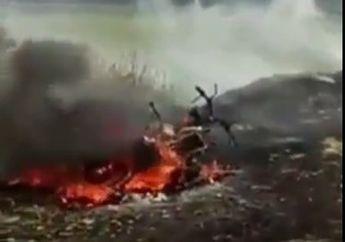 Sedih Maksud Hati Biar Kepanasan Petani Simpan Motor Dalam Jerami Eh Dibakar Tinggal Rangka Tersisa