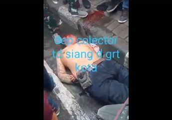 Debt Collector Sekarat Bersimbah Darah Kepala Diinjak-injak Masa Tergelatak di Trotoar