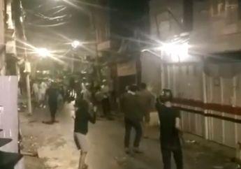 Pemotor Ketakutan, Puluhan Pemuda Terlibat Tawuran di Kota Bambu, Perang Batu Bikin Suasana Mencekam